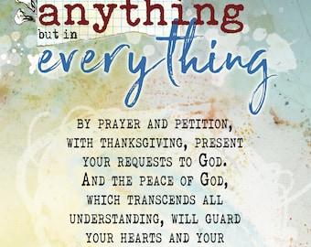 Peace through Prayer - card and postcard