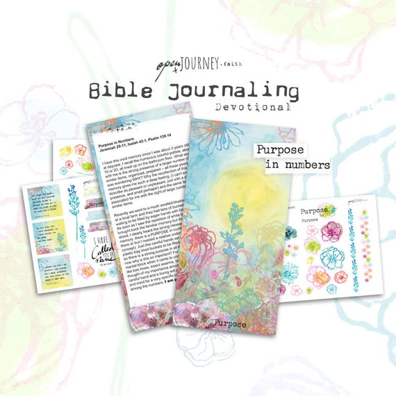 Purpose - a Bible journaling creative devotional -digital download