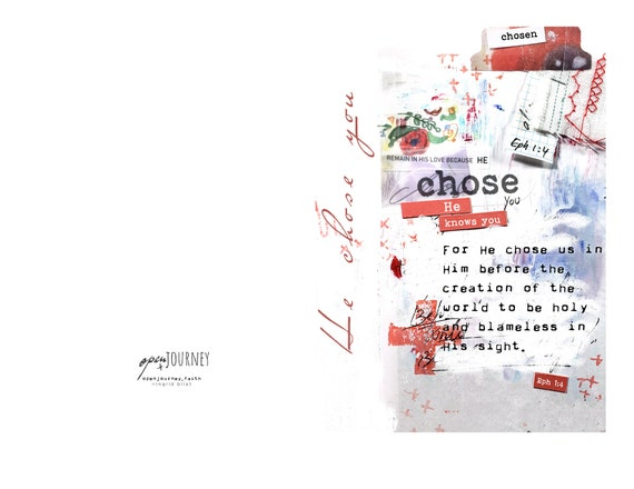 He Chose You Note Card 5x7