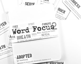 Word Focus 2 - SECOND SET of 40 LARGE journaling card set