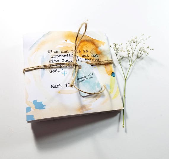 A set of 5 Bible Verse note cards 5x5