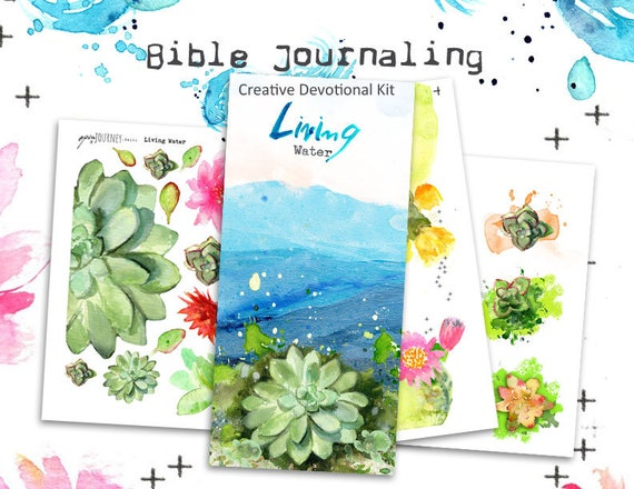 Living Water - a Bible journaling creative devotional -digital download