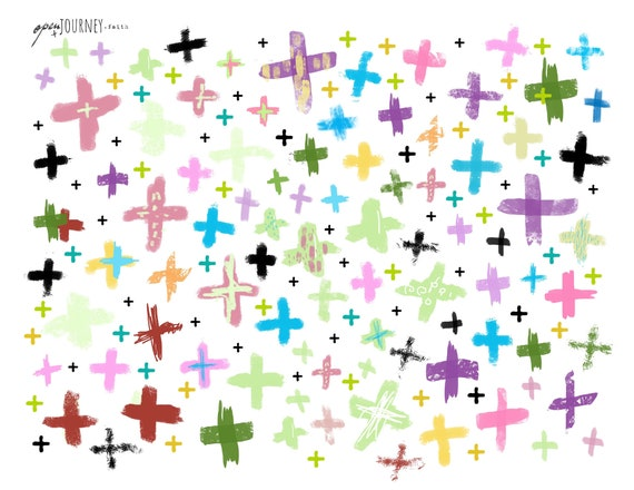 Colorful Crosses - digital download for bible journaling, card making and craft