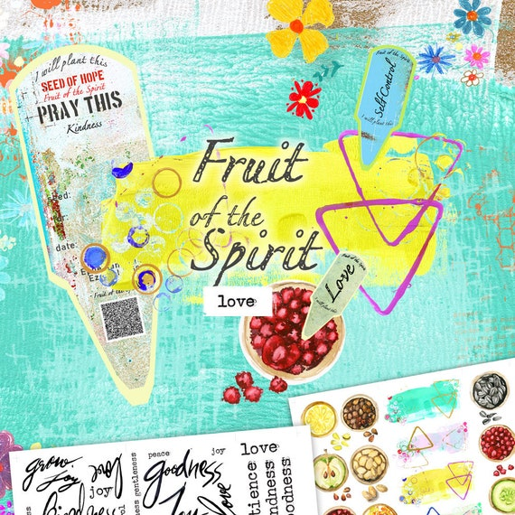 Fruit of the Spirit- a creative bible study, Bible journaling creative devotional - digital download