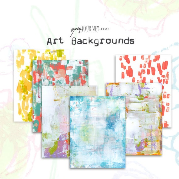 Mixed media art backgrounds - digital download for bible journaling, card making and craft