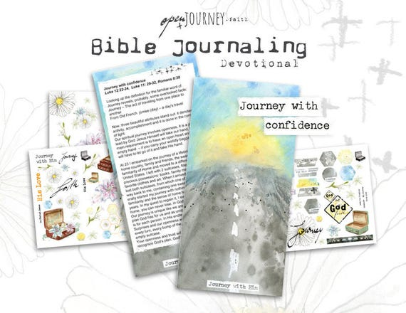 Journey with confidence - a Bible journaling creative devotional -digital download