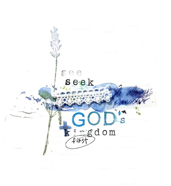 Seek God's Kingdom First Note Card 5x7