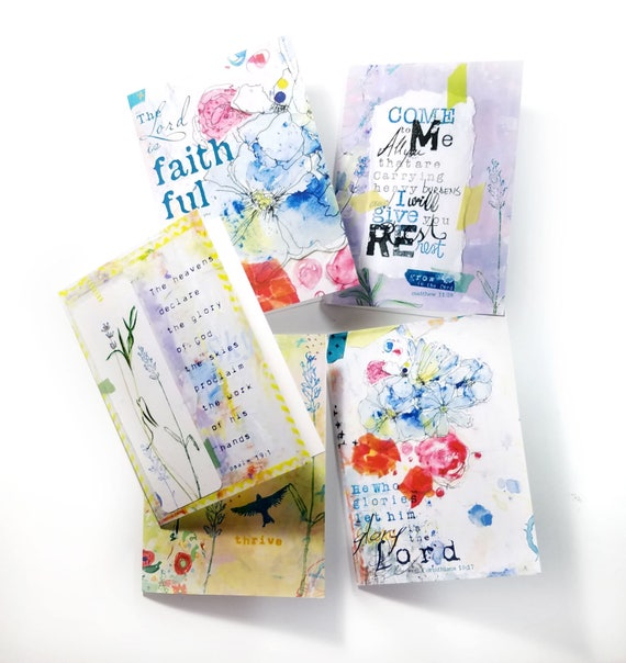 Set of 5 note cards, greeting cards 5x7
