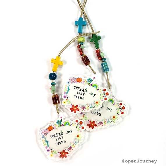 Journal Charm: Spread Joy like Seeds