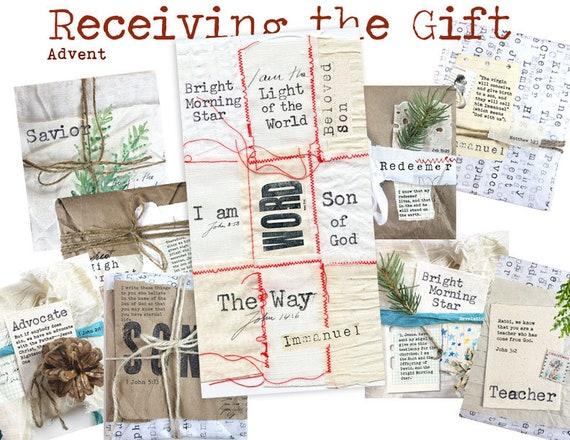 Receiving the Gift- a creative bible study for Advent, Christmas season -  Bible journaling creative devotional - digital download