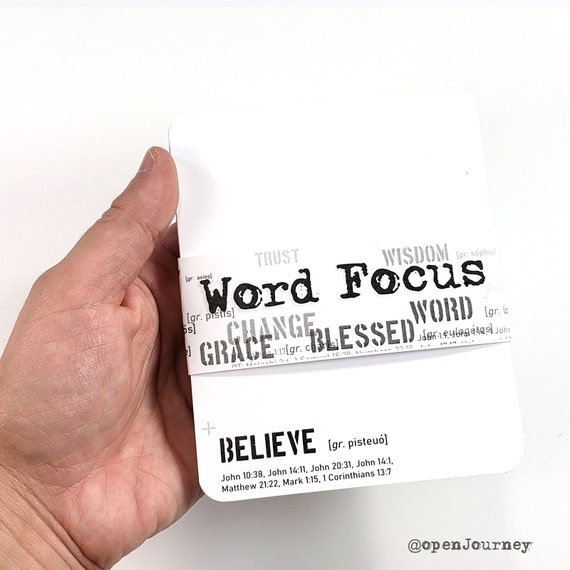 Word Focus 40 LARGE journaling card set