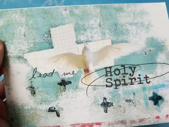 Holy Spirit lead me, 5x7 note card