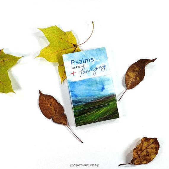 Psalms of Praise and Thanksgiving - set of 40 Bible verse cards