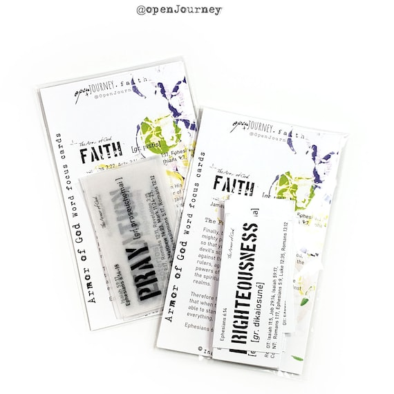Word Focus- ARMOR of GOD journaling cards