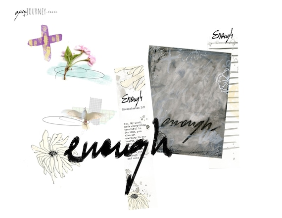 "Enough - ""Your Word"" Bible journaling creative kit-digital download"