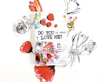 Do you love Me? - set of 40 illustrated Bible Journaling Cards with Bible verses
