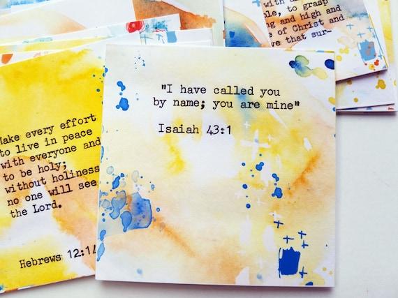 Inspirational Bible Verse Cards- set of 24