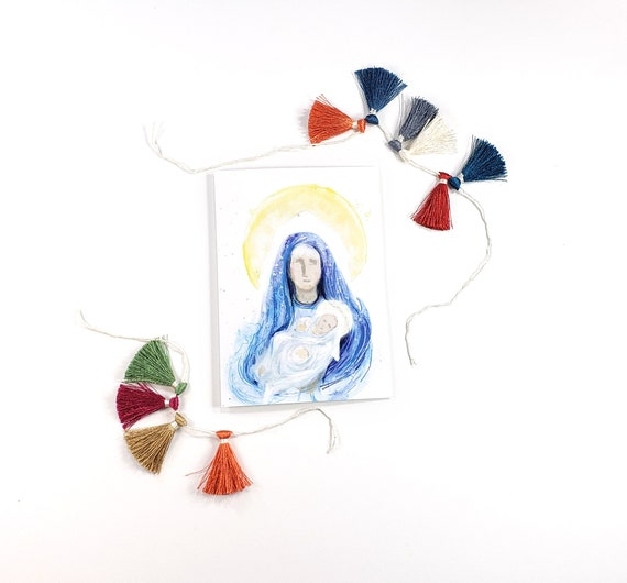 Blessed Mother and Jesus 5x7