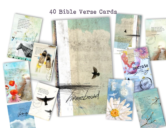 Homebound- set of 40 Bible Journaling Cards -digital download