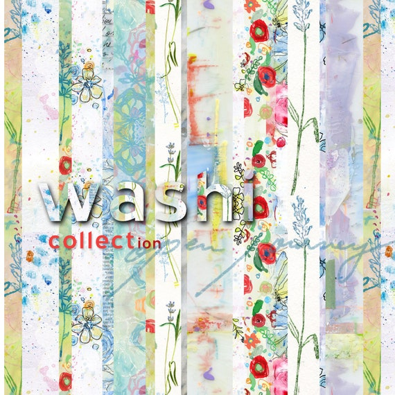 Washi Strips collection - digital download for bible journaling, card making and craft