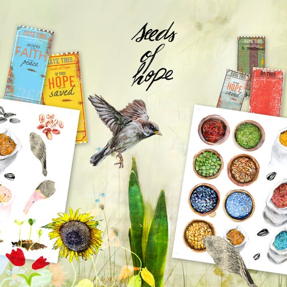 Seeds of Hope- a creative bible study, Bible journaling creative devotional - digital download