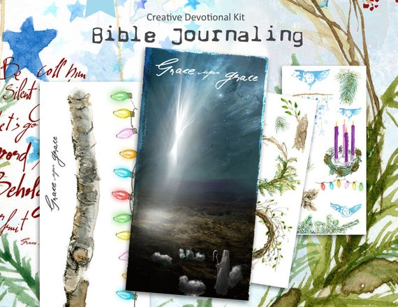 Grace upon Grace - Advent Bible journaling kit -digital download