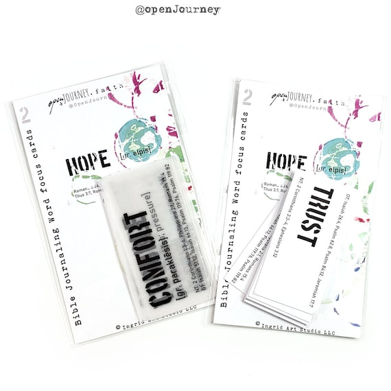 Word Focus 2- journaling cards