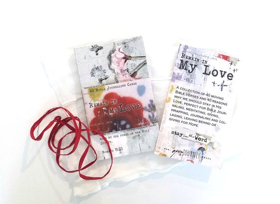 Remain in My Love - set of 40 Bible Journaling Cards with prompts and Bible verses