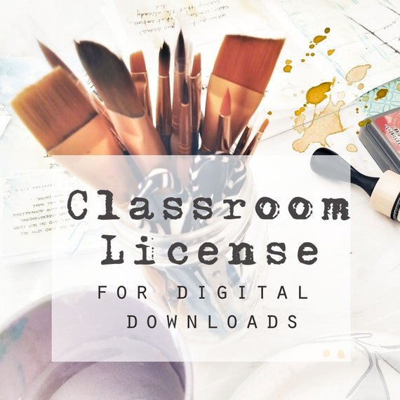 Classroom License for digital downloads