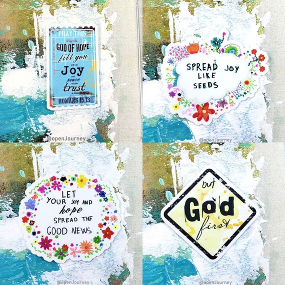 Faith sticker combo - 4 stickers