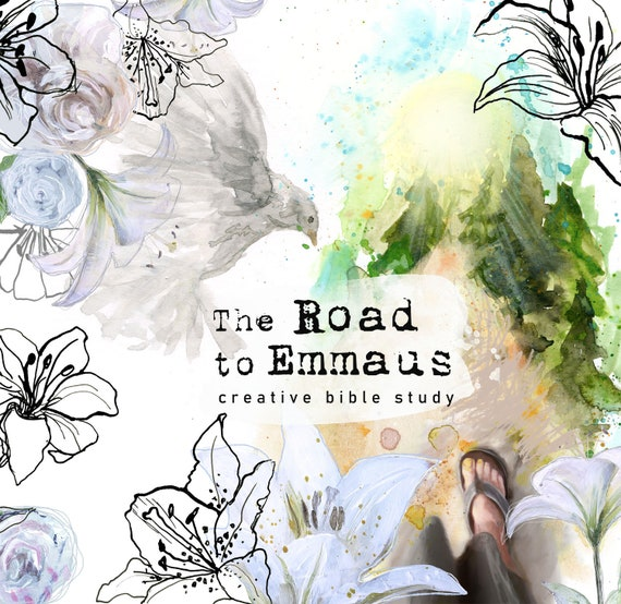 The Road to Emmaus- a creative bible study, Bible journaling creative devotional - digital download