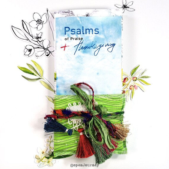 Psalms of Thanksgiving and praise- a creative bible study / Bible journaling creative devotional kit