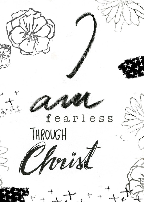 I am Fearless Note Card 5x7