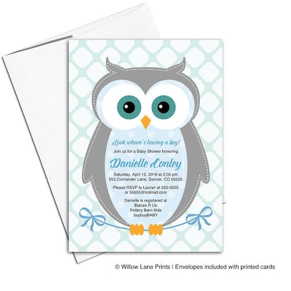 Woodland baby shower invitation boy owl baby shower invites etsy image 0 filmwisefo