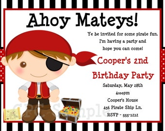 Pirate birthday invitation pirate party invitations etsy pirate birthday invitation pirate party invitations printable or printed filmwisefo