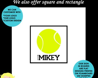 Tennis Bar and Bat Mitzvah Sign in Board - Custom Colors Available
