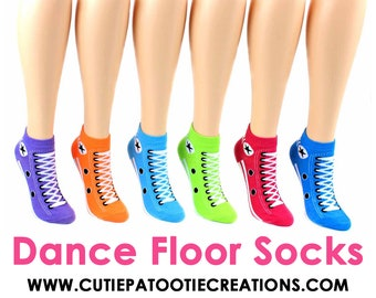 Dance Floor Party Socks for Bar and Bat Mitzvah | Sweet 16 | Quinceanera | Wedding | Sneaker Style Socks