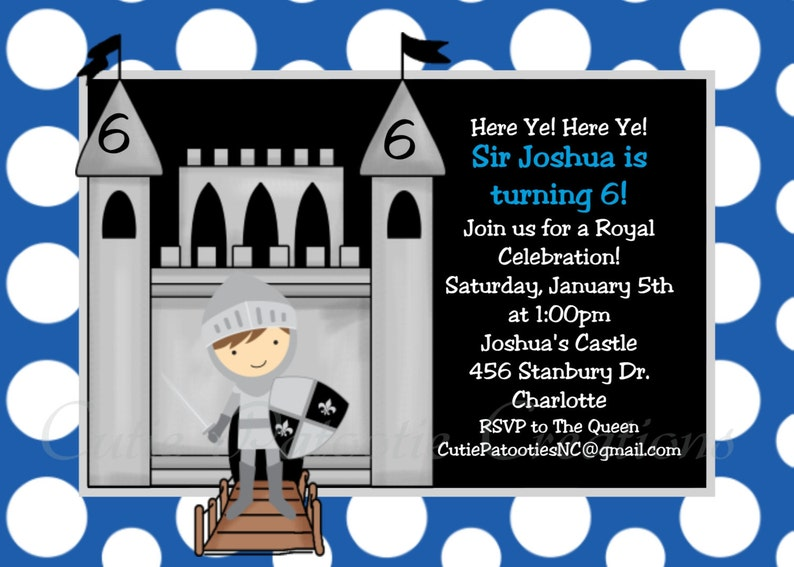Knight Birthday Invitation