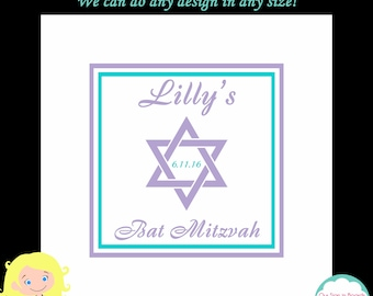 Bat Mitzvah Sign in Board, Bar Mitzvah Sign in Board, Sign in Pillow, Jewish Star, Custom Colors Available