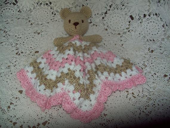 Crochet pattern snuggle baby toy blanket teddy bear | 427x570
