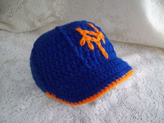 3453baf1da3 NY METS Baseball Hat with Brim Infant Baby Photo Prop Sweet