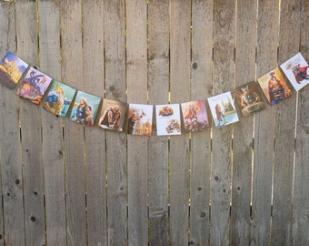 Thor Book Bunting - Superheroes Party decoration, bunting, garland, upcycled - Paper Decor -  Ready to ship