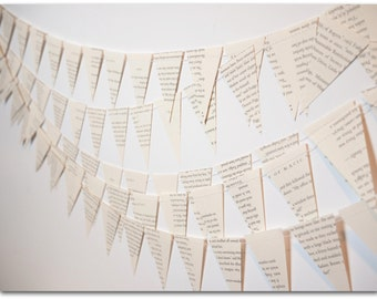 Mini Harry Potter Book bunting - Paper bunting - Upcycled, wedding decor, birthday party, baby shower, library decor-  Ready to ship