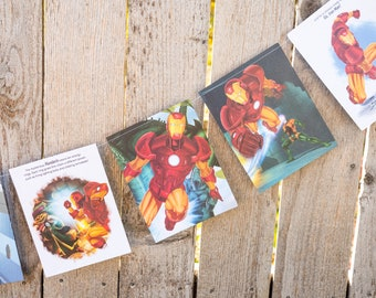 Iron Man Book Bunting - Superheroes Party, avengers, decoration, bunting, garland, upcycled - Paper Decor -  Ready to ship
