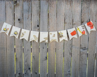 Vintage Book Bunting - Are You My Mother? - Party decoration, bunting, garland, upcycled - Paper Decor -  Ready to ship