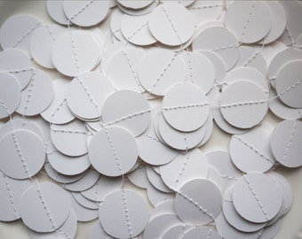 Paper Circles Garland - 5 yards (15 feet) - Pure White - Ready to Ship