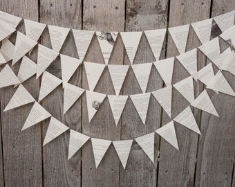 Book Bunting - Chronicles of Narnia - Wedding, Baby shower, Bridal Shower, Nursery, Dorm Room Decor - Paper Decor -  Ready to ship