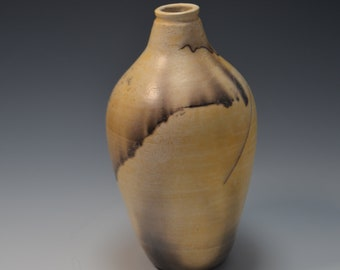 Horsehair Raku Pottery Vase