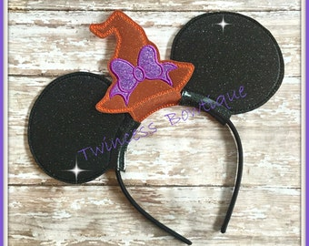 Witch Hat Mouse Ears Headband - CUSTOM - Twincess Bowtique