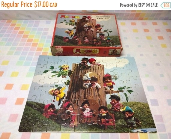 1974 Monchhichi Sekiguchi Puzzle COMPLETE Jigsaw 70s Kids Games Retro Collectible Cute